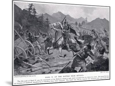 Basil II, at Battle Near Setania 1017 AD-John Harris Valda-Mounted Giclee Print