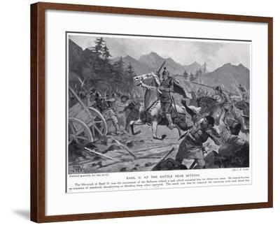 Basil II, at Battle Near Setania 1017 AD-John Harris Valda-Framed Giclee Print