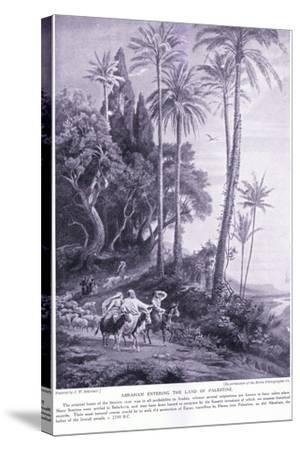 Abraham Enters the Land of Palestine 2250 Bc-Johann Wilhelm Schirmer-Stretched Canvas Print