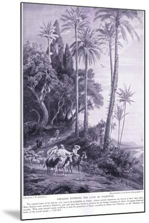 Abraham Enters the Land of Palestine 2250 Bc-Johann Wilhelm Schirmer-Mounted Giclee Print