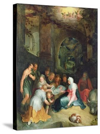 The Adoration of the Shepherds-Karel Van Mander-Stretched Canvas Print
