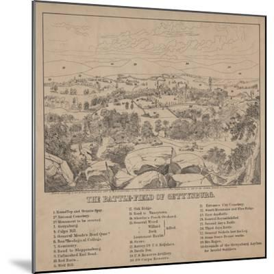 The Battle-Field of Gettysburg, C.1867-Louis N. Rosenthal-Mounted Giclee Print