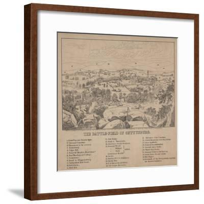 The Battle-Field of Gettysburg, C.1867-Louis N. Rosenthal-Framed Giclee Print