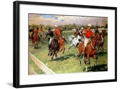 A Game of Polo, 1911-Ludwig Koch-Framed Giclee Print