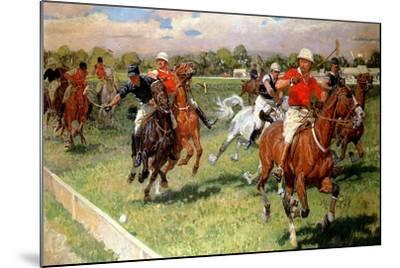 A Game of Polo, 1911-Ludwig Koch-Mounted Giclee Print