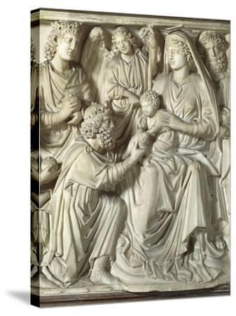 Adoration of the Magi, Panel from the Pulpit of the Baptistery of St John, 1255-1260-Nicola Pisano-Stretched Canvas Print