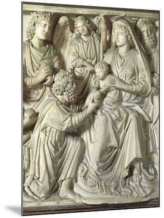Adoration of the Magi, Panel from the Pulpit of the Baptistery of St John, 1255-1260-Nicola Pisano-Mounted Giclee Print