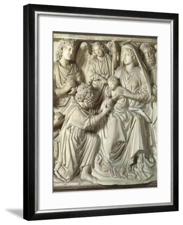 Adoration of the Magi, Panel from the Pulpit of the Baptistery of St John, 1255-1260-Nicola Pisano-Framed Giclee Print