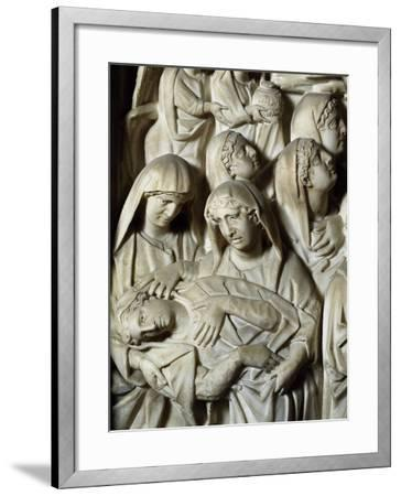 Crucifixion, Panel on the Pulpit of the Baptistery of St John, 1255-1260-Nicola Pisano-Framed Giclee Print