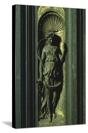 Prophetess, Panel-Lorenzo Ghiberti-Stretched Canvas Print
