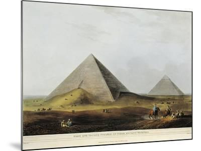 Arab Dwelling Built on Ancient Ruins Along the Menuf Canal in Egypt from Views in Egypt, 1804-Luigi Mayer-Mounted Giclee Print