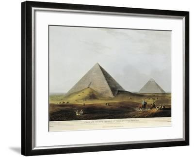 Arab Dwelling Built on Ancient Ruins Along the Menuf Canal in Egypt from Views in Egypt, 1804-Luigi Mayer-Framed Giclee Print