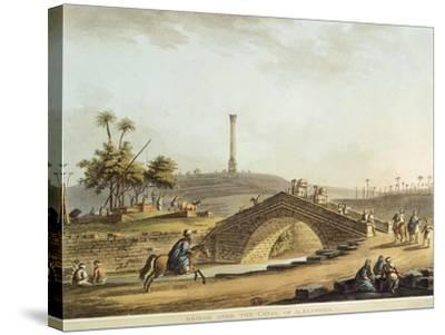 Egypt, Bridge over Alexandria Canal, 1804-Luigi Mayer-Stretched Canvas Print