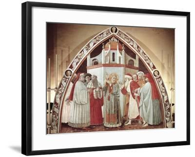 Disputation of St. Stephen, Scene from Stories of St. Stephen, 1435-1440-Paolo Uccello-Framed Giclee Print