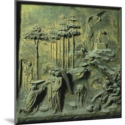 Appearance of Angels to Abraham and Sacrifice of Isaac-Lorenzo Ghiberti-Mounted Premium Giclee Print