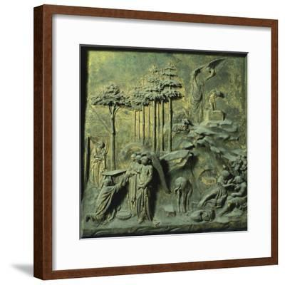 Appearance of Angels to Abraham and Sacrifice of Isaac-Lorenzo Ghiberti-Framed Premium Giclee Print