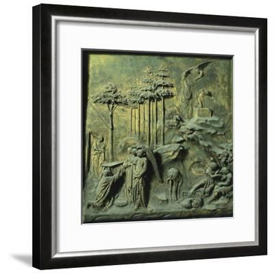 Appearance of Angels to Abraham and Sacrifice of Isaac-Lorenzo Ghiberti-Framed Giclee Print