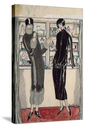 Twenties Women's Fashion Plate-M. Friedlaender-Stretched Canvas Print