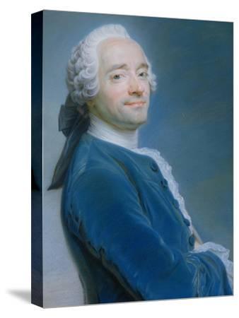 Self Portrait-Maurice Quentin de La Tour-Stretched Canvas Print