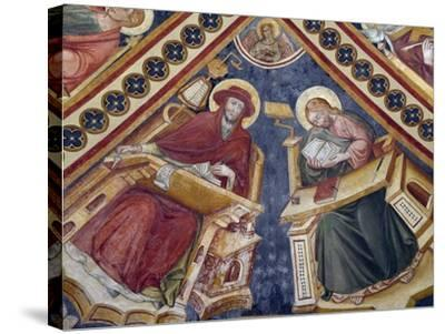 Figures of Saints, Fresco-Nicolo Alunno-Stretched Canvas Print