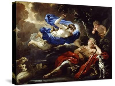 Diana and Endymion-Luca Giordano-Stretched Canvas Print