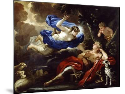 Diana and Endymion-Luca Giordano-Mounted Giclee Print