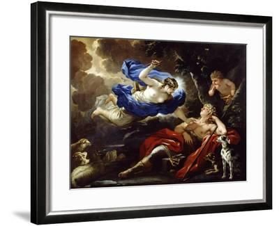 Diana and Endymion-Luca Giordano-Framed Giclee Print