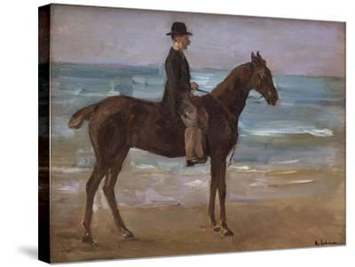 A Rider on the Shore-Max Liebermann-Stretched Canvas Print
