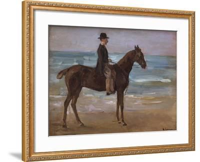 A Rider on the Shore-Max Liebermann-Framed Giclee Print