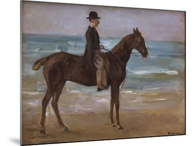 A Rider on the Shore-Max Liebermann-Mounted Giclee Print