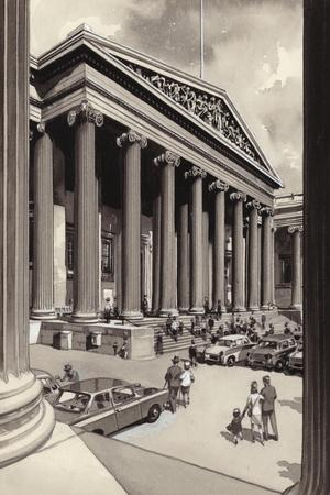 The British Museum in the 1960S-Pat Nicolle-Stretched Canvas Print