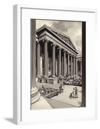 The British Museum in the 1960S-Pat Nicolle-Framed Giclee Print