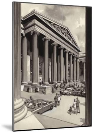 The British Museum in the 1960S-Pat Nicolle-Mounted Giclee Print