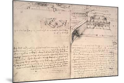 Staircase-Leonardo da Vinci-Mounted Giclee Print
