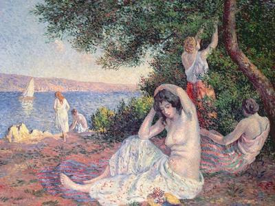Women Bathing-Maximilien Luce-Framed Giclee Print