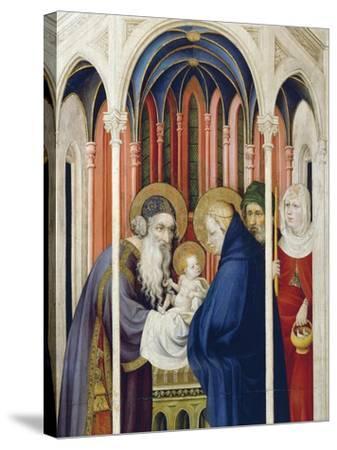 Circumcision of Jesus, Right Panel of Champmol Altarpiece, 1393-1399-Melchior Broederlam-Stretched Canvas Print