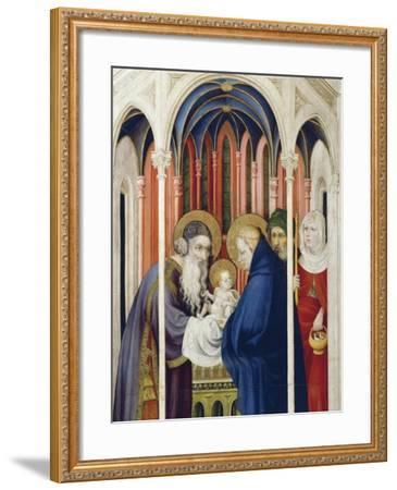 Circumcision of Jesus, Right Panel of Champmol Altarpiece, 1393-1399-Melchior Broederlam-Framed Giclee Print