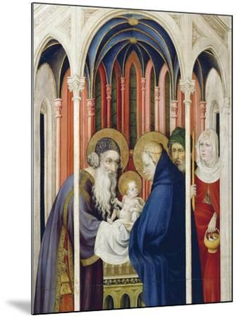 Circumcision of Jesus, Right Panel of Champmol Altarpiece, 1393-1399-Melchior Broederlam-Mounted Giclee Print