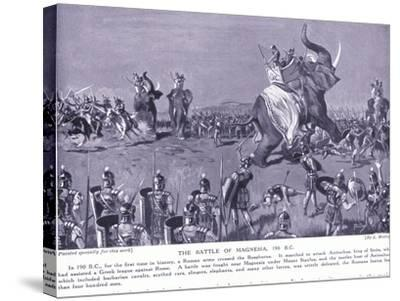 The Battle of Magnesia 190 BC-Leslie Mosley-Stretched Canvas Print