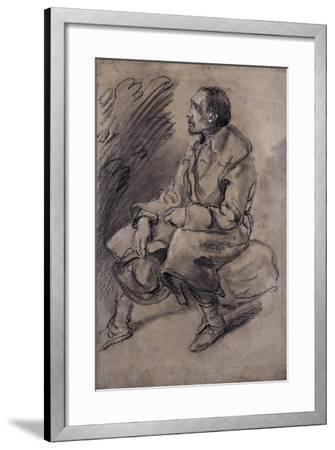 Study of a Woodman, C.1787-Thomas Gainsborough-Framed Giclee Print