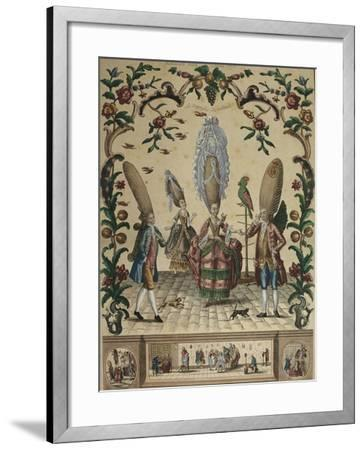 France, the Triumph of Ridicule from an Almanac by Basset, 1773-Paul André Basset-Framed Giclee Print