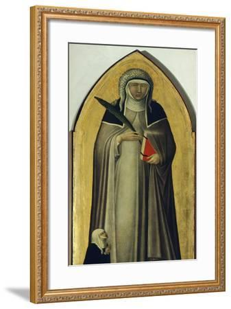 Blessed Humility, Detail from Altarpiece of Blessed Humility-Pietro Lorenzetti-Framed Giclee Print