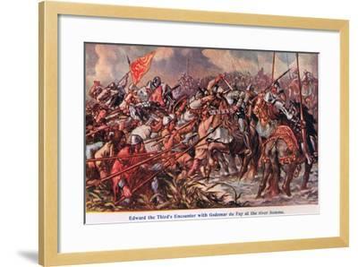 Edward 111's Encounter with Godemur De Fay-Sir John Gilbert-Framed Giclee Print