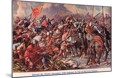 Edward 111's Encounter with Godemur De Fay-Sir John Gilbert-Mounted Giclee Print