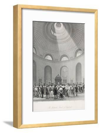 The Rotunda at the Bank of England-Thomas Hosmer Shepherd-Framed Giclee Print