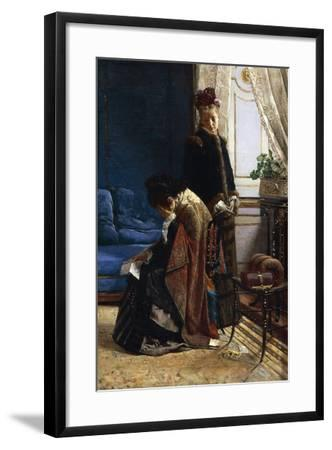 News from Afar, 1875-Pier Celestino Gilardi-Framed Giclee Print