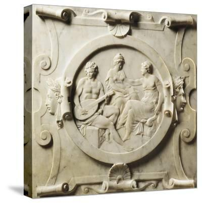 Medallion Depicting Scenes of Music-Pierre Bontemps-Stretched Canvas Print
