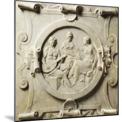 Medallion Depicting Scenes of Music-Pierre Bontemps-Mounted Giclee Print