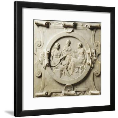 Medallion Depicting Scenes of Music-Pierre Bontemps-Framed Giclee Print