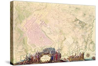 Louis XIV Atlas, Map and Plan of Marseille, 1683-88-Sebastien Le Prestre de Vauban-Stretched Canvas Print